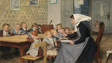 At the crèche I, 1890. Found in the collection of Kunst Museum Winterthur.
