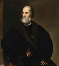 Pietro Bembo as prior of the Knights Hospitaller, ca 1537. Found in the collection of Museo del Prado, Madrid.