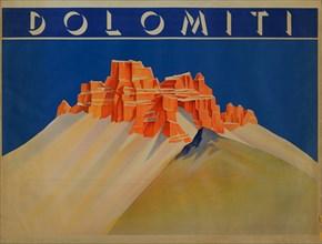 Dolomiti, 1910s-1920s. Found in the collection of Museo Nazionale Collezione Salce, Treviso.