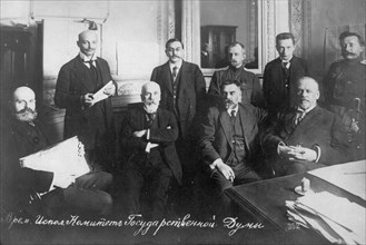 The Provisional Committee of the State Duma, 1917. Private Collection.