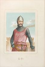 El Cid (Rodrigo Díaz de Vivar). From: Hombres y mujeres ce?lebres de todos los tiempos by Juan Landa, 1875-1877. Private Collection.