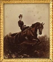 Empress Elisabeth on horseback, c. 1890. Private Collection.