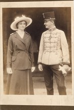 Emperor Charles I of Austria (1887-1922), with Empress Zita. Private Collection.
