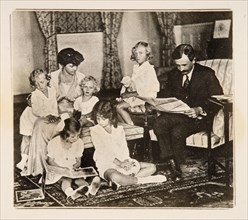 Emperor Charles I and his family in exile, 1920s. Private Collection.