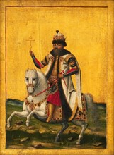 Equestrian portrait of the Tsar Michail I Fyodorovich of Russia (1596-1645), c. 1650-1660. Found in the collection of Statens Museum for Kunst, Copenhagen.