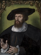 Portrait of the King Christian II of Denmark (1481-1559), 1514-1516. Found in the collection of Statens Museum for Kunst, Copenhagen.