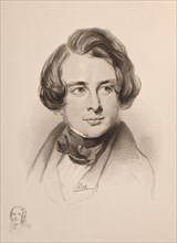 Portrait of Charles Dickens. Sketch of Dickens' sister Fanny, bottom left , 1842. Private Collection.