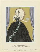 """Mme Ida Rubinstein dans """"La Dame aux Camélias"""", Gazette du Bon Ton , 1923. Private Collection."""