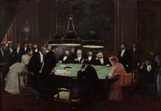 La salle de jeux du casino, 1889. Found in the collection of Musée Carnavalet, Paris.