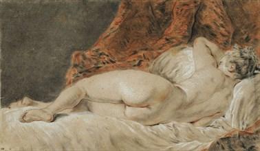 Femme allongée vue de dos, dit le Sommeil, ca 1720. Found in the collection of École nationale supérieure des beaux-arts, Paris.