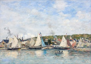 The port of Trouville, 1893. Found in the collection of Johannesburg Art Gallery.