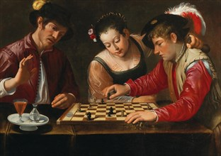Chess players, 17th century. Private Collection.