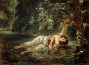 The Death of Ophelia, 1853. Found in the collection of Musée du Louvre, Paris.