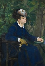 Woman in a Garden (Woman with a Seagull Hat), 1868. Found in the collection of Art Museum Basel.