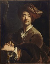 Self-Portrait (Autoportrait dit au porte-mine), 1711. Found in the collection of Musée de l'Histoire de France, Château de Versailles.