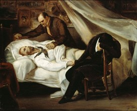 The death of Théodore Géricault, 1824. Found in the collection of Musée du Louvre, Paris.