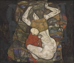 Young mother, 1914. Found in the collection of Vienna Museum.