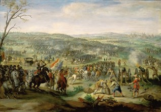 The Battle of White Mountain on 8 November 1620, 1620. Found in the collection of Musée du Louvre, Paris.