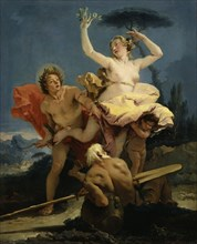 Apollo and Daphne, 1743-1745 . Found in the collection of Musée du Louvre, Paris.