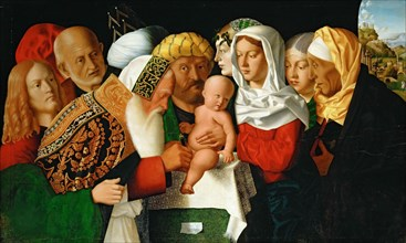 The circumcision of Christ, ca 1506. Found in the collection of Musée du Louvre, Paris.