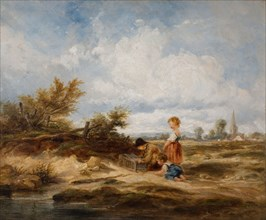 Hampstead Heath - The Bird Trap, 1845.