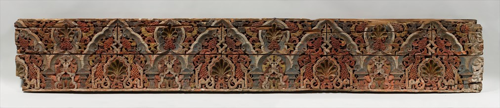 Panel with Cusped Arches, Morocco, 14th century.