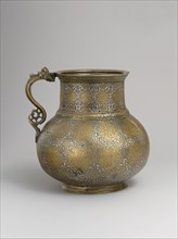 Dragon-Handled Jug with Inscription, present-day Afghanistan, late 15th- first quarter 16th century.