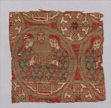 Textile with Musicians, Spain, 13th century.