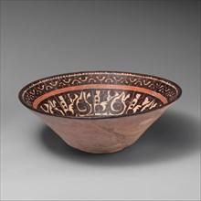 Bowl with Pseudo-Inscriptional Design, Uzbekistan, 10th century.