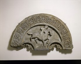 Tympanum with a Horse and Rider, second half 14th century.