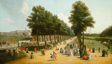 View of the Mall in Saint James's Park, after 1709-1710.