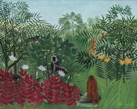 Tropical Forest with Monkeys, 1910.