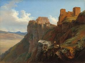 View of the Castello di San Giuliano, near Trapani, Sicily, c. 1824/1826.