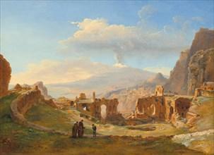 The Roman Theater at Taormina, 1828.