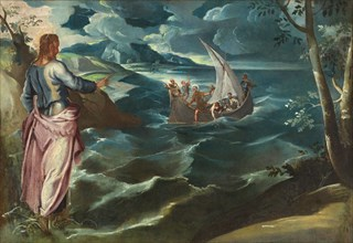 Christ at the Sea of Galilee, c. 1570s. By Circle of Jacopo Tintoretto, probably Lambert Sustris.