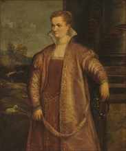 Irene di Spilimbergo, c. 1560. By an assistant of Titian - possibly begun by Gian Paolo Pace.
