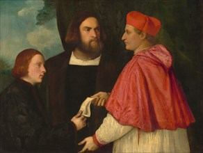Girolamo and Cardinal Marco Corner Investing Marco, Abbot of Carrara, with His Benefice, c. 1520/1525.