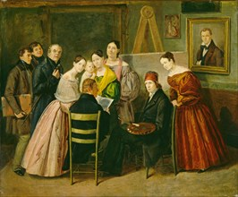 A Painter and Visitors in a Studio, c. 1835.