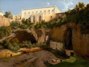 View of a Villa, Pizzofalcone, Naples, c. 1819.