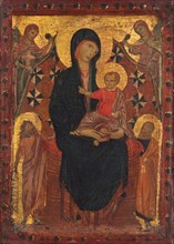 Madonna and Child with Saint John the Baptist, Saint Peter, and Two Angels, c. 1290.