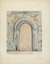 Stone Doorway, Carved, 1939.