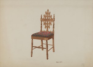 Handcarved Side Chair, 1937.