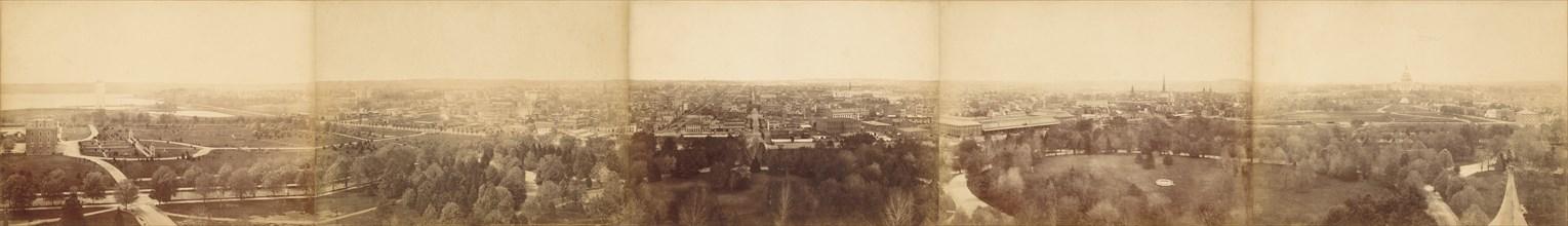 Panoramic View of Washington, DC, 1860-1876.