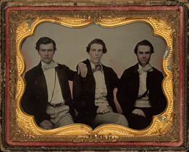 Portrait of Three Young Men, 1860s.