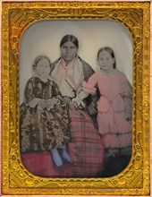 Portrait of a Woman and Two Girls, 1850s.