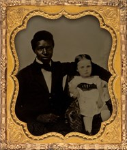 Portrait of a Man with Child, 1850s.