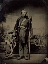 Portrait of a Civil War Soldier, 1860s.