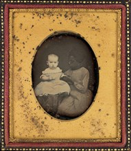 Portrait of a Child and Young Woman, c. 1850.