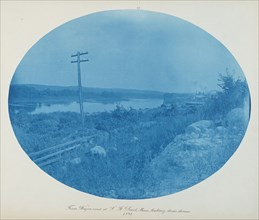 From Wagon Road at S. St. Paul, Minn. Looking Downstream, 1891.