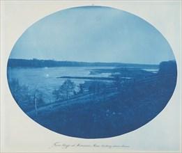 From Bluffs at Merrimac, Minn. Looking Downstream, 1889.
